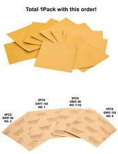 1 PCK, 12-PC Sand Paper Assortments #60, #80, #100, #120 GRIT (For Dry Sanding)