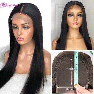 Brazilian 4*4 Lace Wig Straight Human Hair Wigs 150% Density Lace Wig with Hair