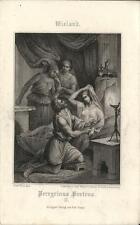 Stampa antica WIELAND Peregrinus Proteus 1860 Old antique print Alte stich