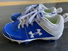 Under Armour Kids' Leadoff Low Rm Jr. Baseball Shoe Size 13 Blue