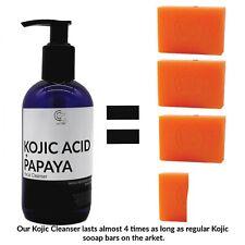 Kojic Acid & Papaya Facial Cleanser - Skin Lightening Liquid Soap