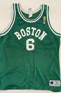 VTG 1996 Bill Russell Boston Celtics #6 Champion Jersey 44- NBA 50th Anniversary