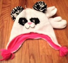 NWT Children's Place Girl's PANDA BEAR Hat & Mittens Set - 4-5T  L/G Valentine's