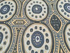 Manuel Canovas Blue Embroidered Ethnic Suzani Fabric- Kayla Ciel 1.75 yd 4778-03