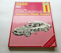 SAAB 900 all 2.0 liter models  Haynes Automotive Repair Manual 1979 thru1988
