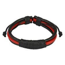 1 Cuir Nœud Bracelet à Chaîne Rouge Noir Bracelet en Cuir - Bijoux de Coolbody