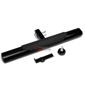 """35""""x 4"""" OVAL 2"""" RECEIVER BLACK TRAILER TOWING/HITCH COVER STEP BAR/BUMPER GUARD"""