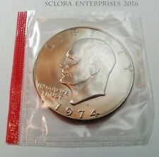 1974 D Eisenhower Dollar Coin (Ike) Uncirculated *Mint Cello* *Free Shipping*