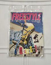 vintage oldschool freestyle magazine bmx plus April 1986 gt