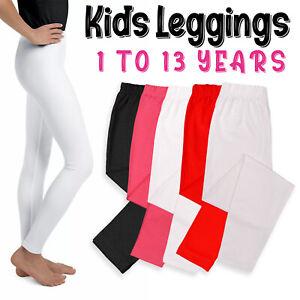 Girls Kids leggings Cotton Full Length 1 - 13 years Fitting comfortable Leggings