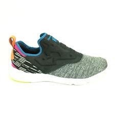 REEBOK FURYLITE SLIP-ON LUX CL (COAL/ELCTRC BLUE/DYNMC Womens Shoes AQ9243 Sz 11