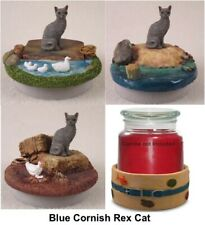 Blue Cornish Rex Cat ~ Beach, Lake, Farm Candle Topper &/or Candle Holder