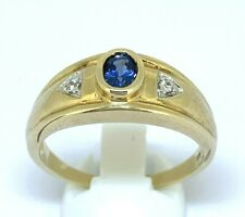 Men's Ring with Sapphire 375er Gold #62