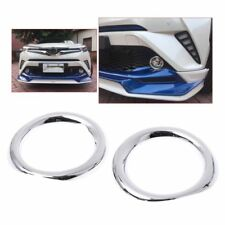 1 Pair ABS Chrome Front Fog Lamp Light Cover Trim For TOYOTA C-HR CHR 2017 2018