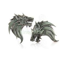 Pair Personalized Wolf 3D Metal Emblem Car Auto Truck Logo Badge Decals Sliver