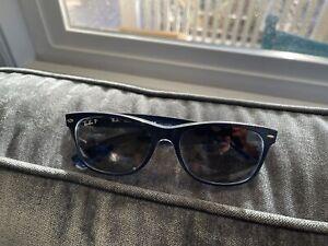 Ray Ban New Wayfarer Polarized RB 2132 Sunglasses (Italy) B18 Blue 54mm