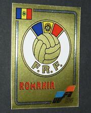 N°186 BADGE ROUMANIE ROMANIA PANINI FOOTBALL EURO 84 CHAMPIONNAT EUROPE 1984