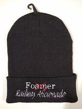 Railroad Fan Winter Knit Cap Hat Buff Foamer BNSF Amtrak CP UP CSX Norfolk Beani
