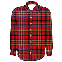 """Men's Tartan Casual dress Plaid Shirts in All sizes """"S to 5XL"""""""