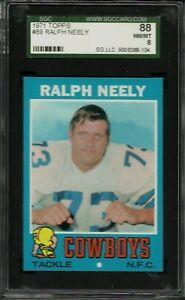 1971 TOPPS #89 RALPH NEELY SGC 88 NM-MT 8 DALLAS COWBOYS FOOTBALL