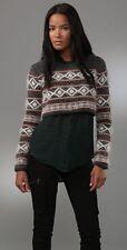 RAG & BONE Women's Grayling Fair Isle Cropped Sweater Angora NWT $308 L SOLD OUT