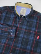 Mens Large RSVLTS The Roosevelts Flannels blue plaid button shirt