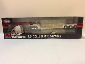 Norscot 1/64 Peterbilt CAT Tractor DCP Fontaine Lowboy, Jeep/Stinger styrene kit