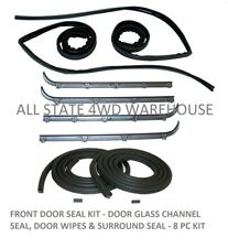FRONT DOOR SEAL KIT, 8 PC FITS FORD BRONCO 1987-1996