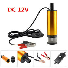 New 12V Car Auto Submersible Pump 38mm Water Oil Diesel Fuel Transfer Detachable