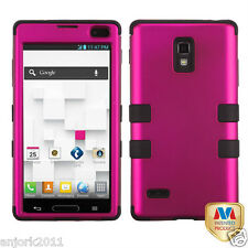 LG Optimus L9 T-Mobile P769 Hybrid T Armor Case Skin Cover Hot Pink Black