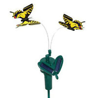 HQRP Yellow Solar Powered Flying Swallowtail Butterfly for Garden Plants Flowers