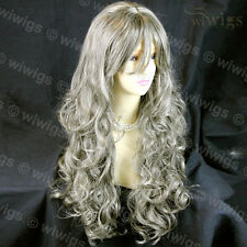 Wiwigs Beautiful Long Curly Blonde & Brown Mix Heat Resistant Ladies Wig