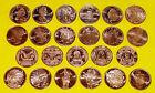 Set of 23 • ALL DIFFERENT COINS • 1 oz each • .999 Fine Copper Bullion