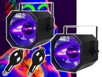 UV 400w Ultra Violet Neon UV Cannon Blacklight DJ Disco Light + 400w Lamp Pair