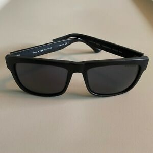Tommy Hilfiger Sunglasses Unisex Black Frames Black Lenses
