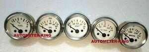"2 1/16"" / 52mm Electrical Oil Pressure Fuel Volt Oil Temp Water Temp Gauge Kit"
