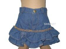 Denim Ruffled Skirt  Fits 18 Inch American Girl Doll Clothes