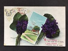 Vintage Postcard - Birthday Greetings Card - #A43 - Stiebel & Co - 1913