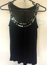 Jeanswest Ladies Top * Sz XS/ 8 * Black and Gold Disco Party