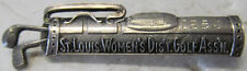 Sterling Pin Award-Stovepipe Golf Bag-St. Louis Women'S Dist Golf Assn 1952