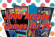 PC Mame-Play Over 3000 Arcade Spiele auf PC-Kostenlose UK p&p - (HDD Version)