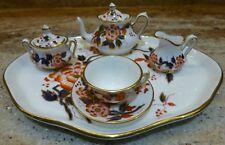 CROWN STAFFORDSHIRE - ENGLAND - MINIATURE TEA SET - FLOWERS