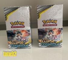 Pokemon  2 Display Scellé 18 booster eclipse Cosmique français neuf