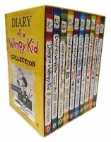 Diary of a Wimpy Kid 10 Books Collection Set Brand New Free P & P