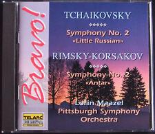 Lorin MAAZEL: TCHAIKOVSKY RIMSKY-KORSAKOV Symphony 2 TELARC CD Little Russian