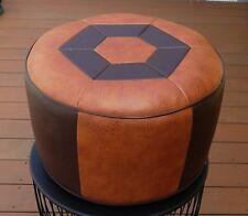 Vintage Coussins de siège-Tabouret environ en Marron-Marron foncé 70er Ans!!!