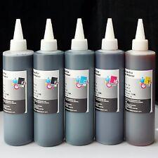 5x250ml Dye refill ink for HP 970 970XL 971 XL X451DN X451DW X476DN