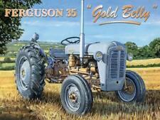 Ferguson 35 Gold Belly Grey Fergie Farm Tractor Old Garage Fridge Magnet