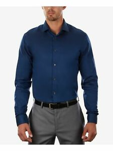 KENNETH COLE Mens Light Blue Collared Slim Fit Button Down Shirt M 15.5- 34/35