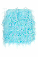 ICONIC BNWOT 16 TOPSHOP PREMIUM BLUE FEATHER MINI SKIRT